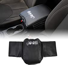 RT-TCZ Armrest Pad Cover Center Console Cover with Storage Bag Pockets for 2007-2010 Jeep Wrangler JK JKU Unlimited