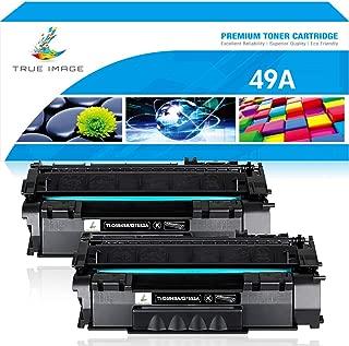 True Image Compatible Toner Cartridge Replacement for HP 49A Q5949A 53A Q7553A Laserjet 1320 1320n 1320tn 1320nw 3390 3392 P2015 P2015dn M2727nf M2727 (Black, 2-Pack)