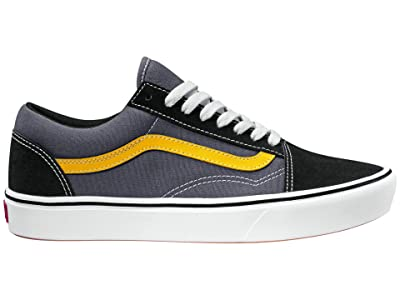 Vans Comfycush Old Skool ((Tri-Tone) Black/Asphalt/Lemon Chrome) Athletic Shoes