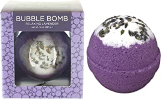 Relaxing Lavender Bubble Bath Bomb by Two Sisters Spa. Large 99% Natural Fizzy For Women, Teens and Kids. Moisturizes Dry Sensitive Skin. Releases Lush Color, Scent, and Bubbles. Handmade in USA