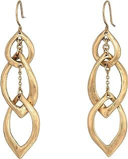 3 Petal Linear Earrings