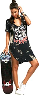 Best rock band t shirt dress Reviews