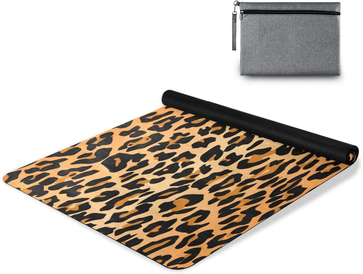 One Bear Yoga Mat 高品質 卸直営 Fashion Sexy Fitness Tabby E Leopard Print