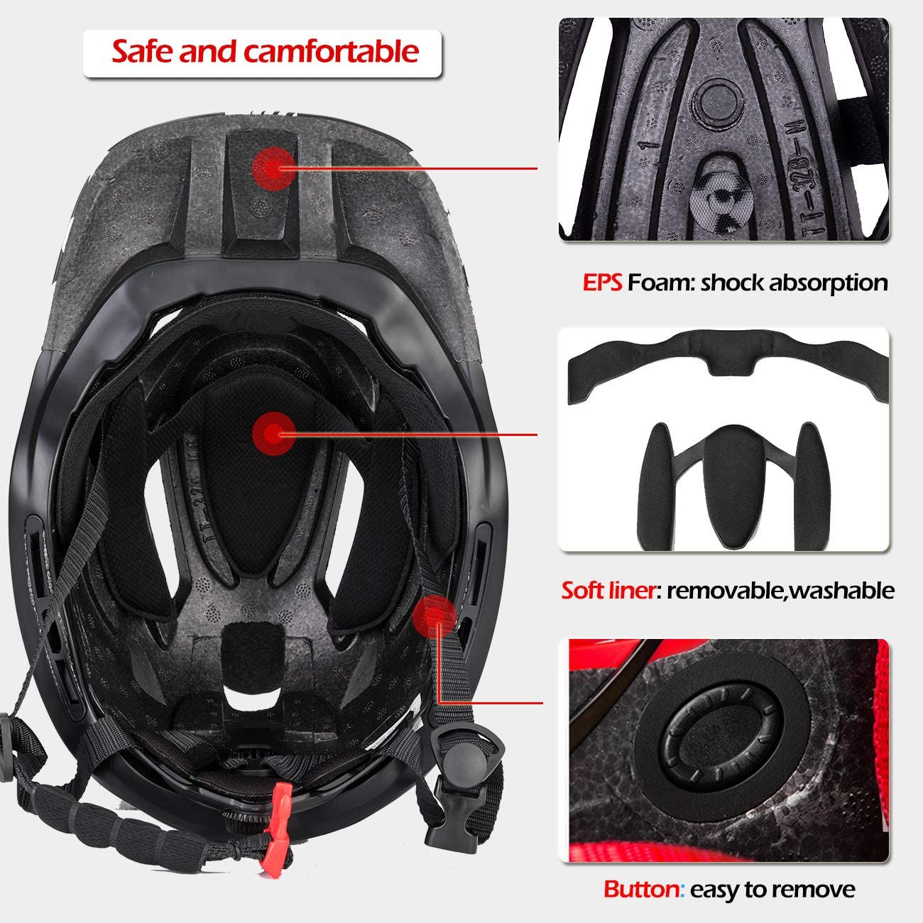 ROCKBROS Kinderhelm Integriert Fahrradhelm Kinder Jugend Fullface Helm mit Abnehmbarem Kinnschutz S 48-53cm M 53-58cm Downhill Helm Lila S (48-53CM)