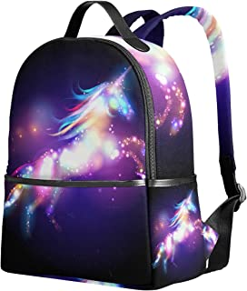 Unicorn Magic With Stars School Backpack 1th 2th 3th Grade for Boys Teen Girls Kids