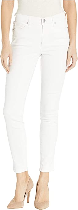 High-Rise Skinny Jeans in White