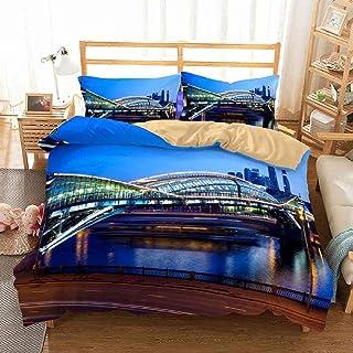 Geekcook Housse de Couette 220x240,Ensemble de literie 100% Coton Textiles de Maison de Twin Full Queen King Size Literie ...