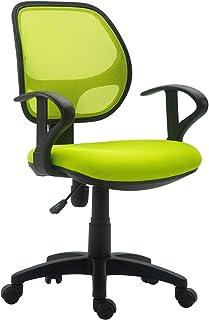 IDIMEX Chaise de Bureau pour Enfant Cool Fauteuil pivotant et Ergonomique avec accoudoirs et Dossier ventilé, siège à roul...