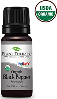 Plant Therapy Black Pepper Organic Essential Oil 10 mL (1/3 oz) 100% Pure, Undiluted, Therapeutic Grade