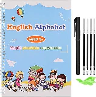 کتابهای کپی Magic Practice برای کودکان ، کتابهای کار خطی قابل استفاده مجدد ، آموزش مهارت های کنترل قلم آموزش پیش دبستانی کودکان برای سن 3 سالگی