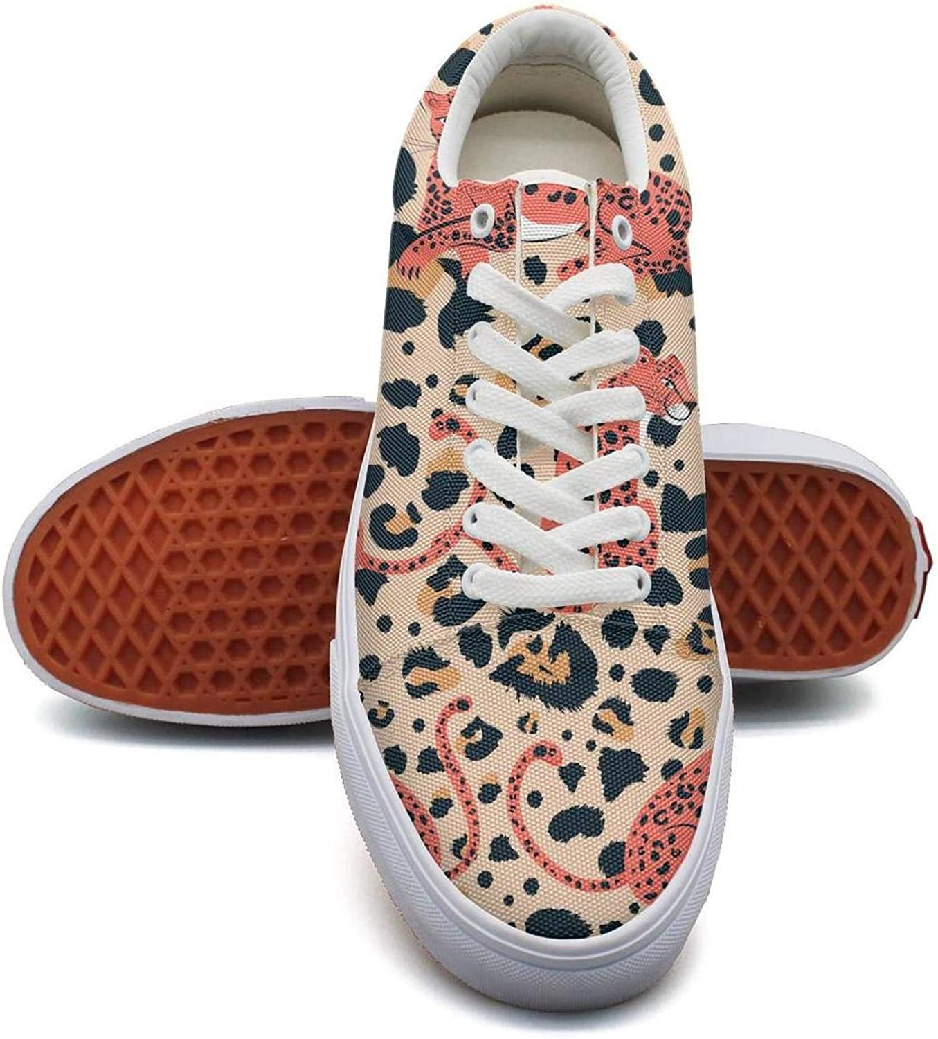 Milr Gile Leopard Design Pattern Print Sneaker Flat Canvas shoes for Womens Stylish