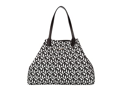 Tommy Hilfiger Iconic Tommy Tote (Black/White) Tote Handbags
