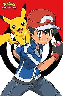 Trends International Pokemon Ash and Pikachu Wall Poster 22.375