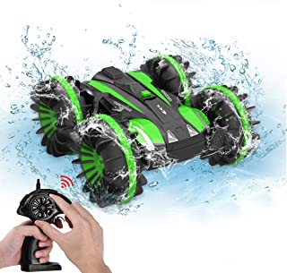 (Green) - Toys for 5-10 Year Old Boys Joyfun Amphibious RC Car for Kids 2.4 GHz Remote Control Boat Waterproof RC Monster ...