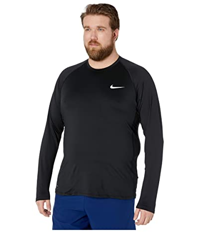 Nike Big Tall Pro Top Long Sleeve Slim (Black/White) Men
