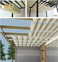 PENGFEI Intrekbare Pergola Luifel Schaduw Cover, Wave Luifel, UV-bescherming Zonwering voor binnenplaats tuin Onderdak, Me...