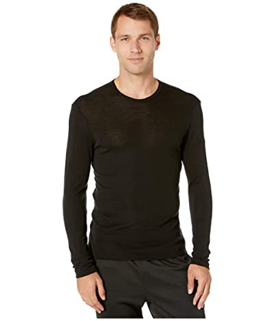 Icebreaker 175 Everyday Merino Base Layer Long Sleeve Crewe (Black) Men