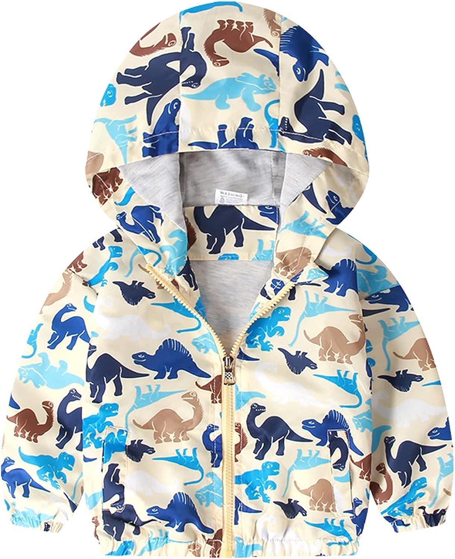 EISHOW Kids Baby Boys Long Sleeve Inf Regular dealer Coat 2021 model Fall Dinosaur Outwear
