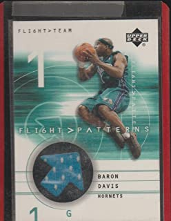 2002 Upper Deck Baron Davis Hornets Game Used Jersey Basketball Card #BD