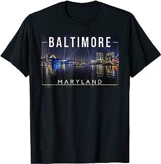 Baltimore Maryland MD Charm City Skyline - Tee