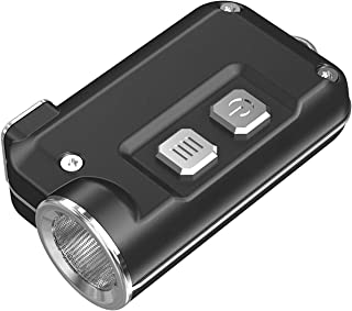 NITECORE TINI Nitecore TINI 380 Lumens Mini Metallic USB Rechargable Keychain Light - Black, Youth-Unisex