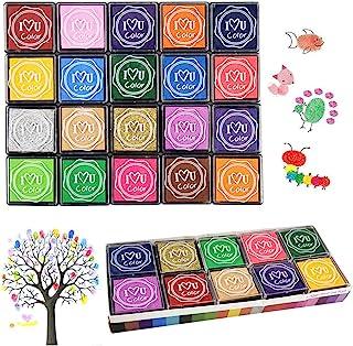 Finger Ink Pads for Kids, 20 Colors Ink Stamp Pads, Washable Craft Stamp Pad DIY Color for Rubber Stamps, Paper, Scrapbooking, Wood Fabric, Best DIY Gift for Kids – Gtlzlz