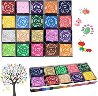 Ink Stamp Pads, Finger Ink Pads for Kids 20 Colors, Washable Craft Stamp Pad DIY Color for Rubber Stamps, Paper, Scrapbooking, Wood Fabric, Best DIY Gift for Kids – Gtlzlz