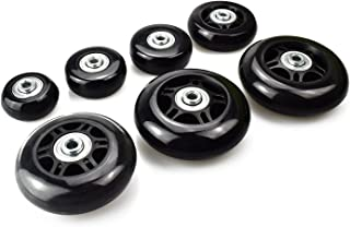 Micnaron Luggage Case Wheels with ABEC 608zz Bearings, Inline Outdoor Skate Replacement Wheels with Multiple Sizes, One Set of (2) Wheels