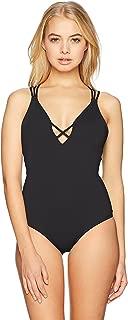 Women's Salt Water Solids One Piece Swimsuit, Aqua Haze, L