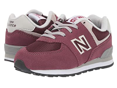 New Balance Kids K574v1I (Infant/Toddler) (Burgundy/Grey) Boys Shoes