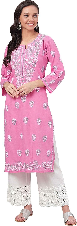 Ada Indian Hand Ranking TOP7 Embroidered Latest Rapid rise Chikankari Kurti Cotton Kurta