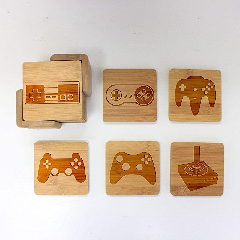Retro Classic Video Game Controller Coasters Decor For Drinks Gamer Gifts