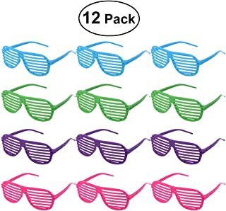 Flyme 12 Pairs Shutter Shades Sun Glasses Party Props (Assorted Colours)