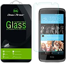 Dmax Armor for HTC Desire 526 Glass Screen Protector, [Tempered Glass] 0.3mm 9H Hardness, Anti-Scratch, Anti-Fingerprint, Bubble Free, Ultra-Clear