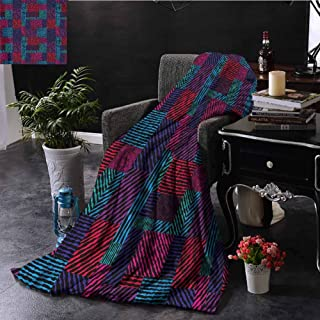 EDZEL Travel Throwing Blanket Abstract Trippy Modern Wavy All Season for Couch Or Bed 93x70 Inch