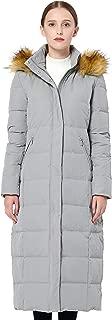 Women's Maxi Puffer Down Coat with Faux Fur Hood