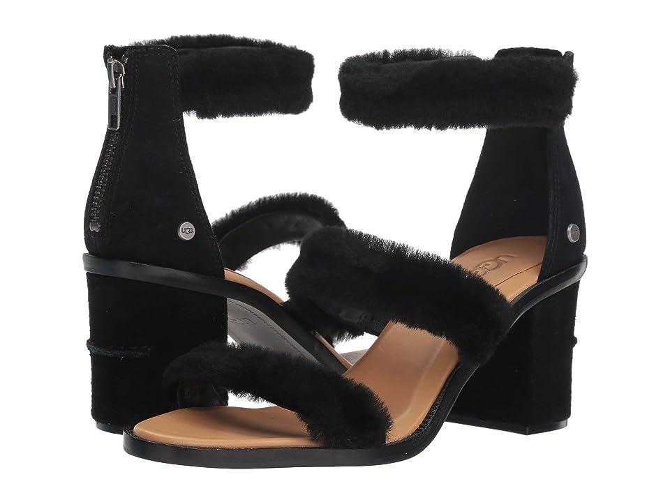UGG Del Rey Fluff Heel (Black) High Heels