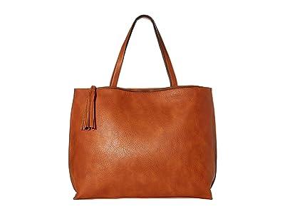 SOLE / SOCIETY Walli Tote (Cognac) Handbags