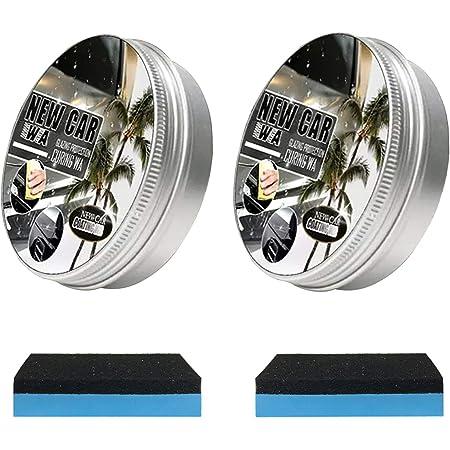 Lzlz 1 2 Stück 150ml New Car Coating Wax Auto Anti Scratch Wax Instant Paint Protection Sealant Glasur Wasserdichtes Antifouling Wax Kommt Mit Wischschwamm Schnellreinigung Politur Glanz 2 Auto