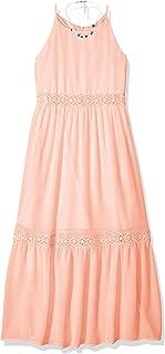 Amy Byer Girls' Big High Neck Maxi Dress