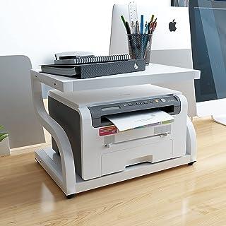 PUNCIA Office Desktop Laser Multifunction Printer Copier Scanner Shelf Stand Rack with Anti - Skid Pads for Desktop Organi...