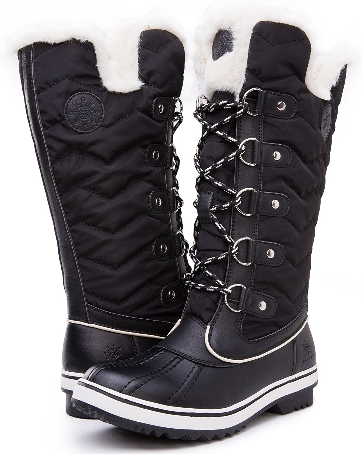 kingshow Women's Globalwin Product 1711 Mid Snow Boots San Jose Mall Winter Claf