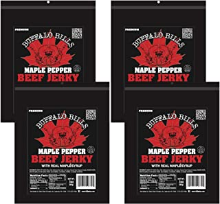 Buffalo Bills 3oz Premium Maple Pepper Beef Jerky 4-Pack (beef jerky made with real maple syrup)