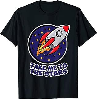 Funny Space Moon Shuttle Take me to the stars Women Men Kids T-Shirt