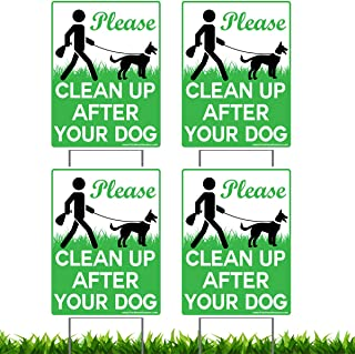 clean up your dog poop signs