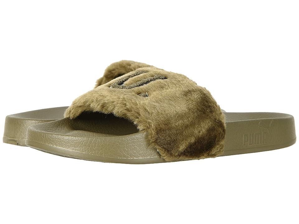 PUMA Leadcat Fenty Faux Fur (Burnt Olive/Puma Black) Women