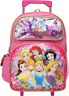 16550eb172b Disney Princess Cinderella Belle Rapunzel Ariel 16 inches Large Rolling  Backpack