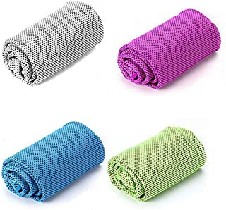 Insoer Cooling Towel,Chilling Neck Wrap 4 Color Cool Towels for Neck Men Women Golf Workout Fitness Gym Yoga Pilates Travel Camping