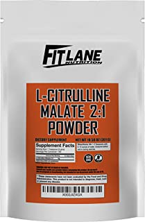 L-Citrulline Malate 2:1 Powder, Bulk Free Form Amino Acid Supplement. Raw and Pure with no Additives by Fit Lane Nutrition...