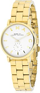 Marc by Marc Jacobs White Pearlized Dial Gold-Tone Stainless Steel Ladies Watch MBM3247